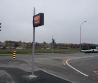 Un nouveau panneau d'affichage au terminus TPG du P+R Bernex