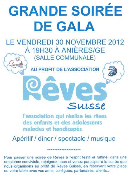 Soirée de Gala au profit de l'association Rêves Suisse