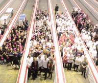 Record du plus grand millefeuille du monde à Genève Palexpo.