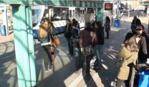 Le flashmob des supporters du Genève-Servette