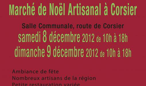 Marché de Noël artisanal à Corsier