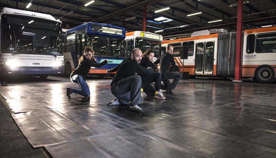 Un labyrinthe de bus « made in Antigel »