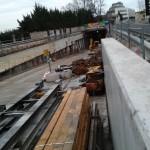 Construction de la tranchée couverte