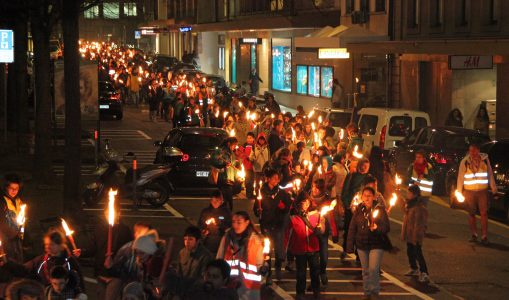 Thinking Day: Les scouts défilent en ville