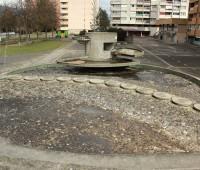 La fontaine fantôme des Champs-Fréchets à Meyrin
