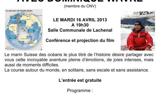 Conférence avec Dominique Wavre
