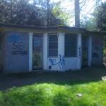 Les WC publics du parc Bertrand à l'abandon depuis 8 ans (M. Cosandier)