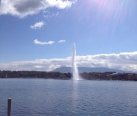 J'ai mis en route le Jet d'eau à Genève.