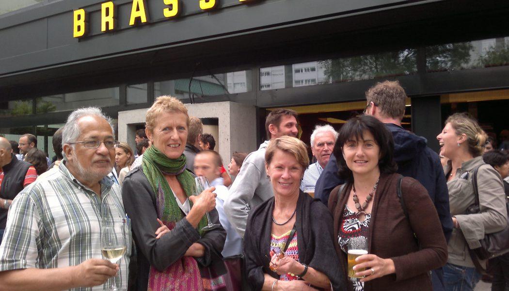 Grêle et bière pour l'inauguration de la Brasserie des Tours