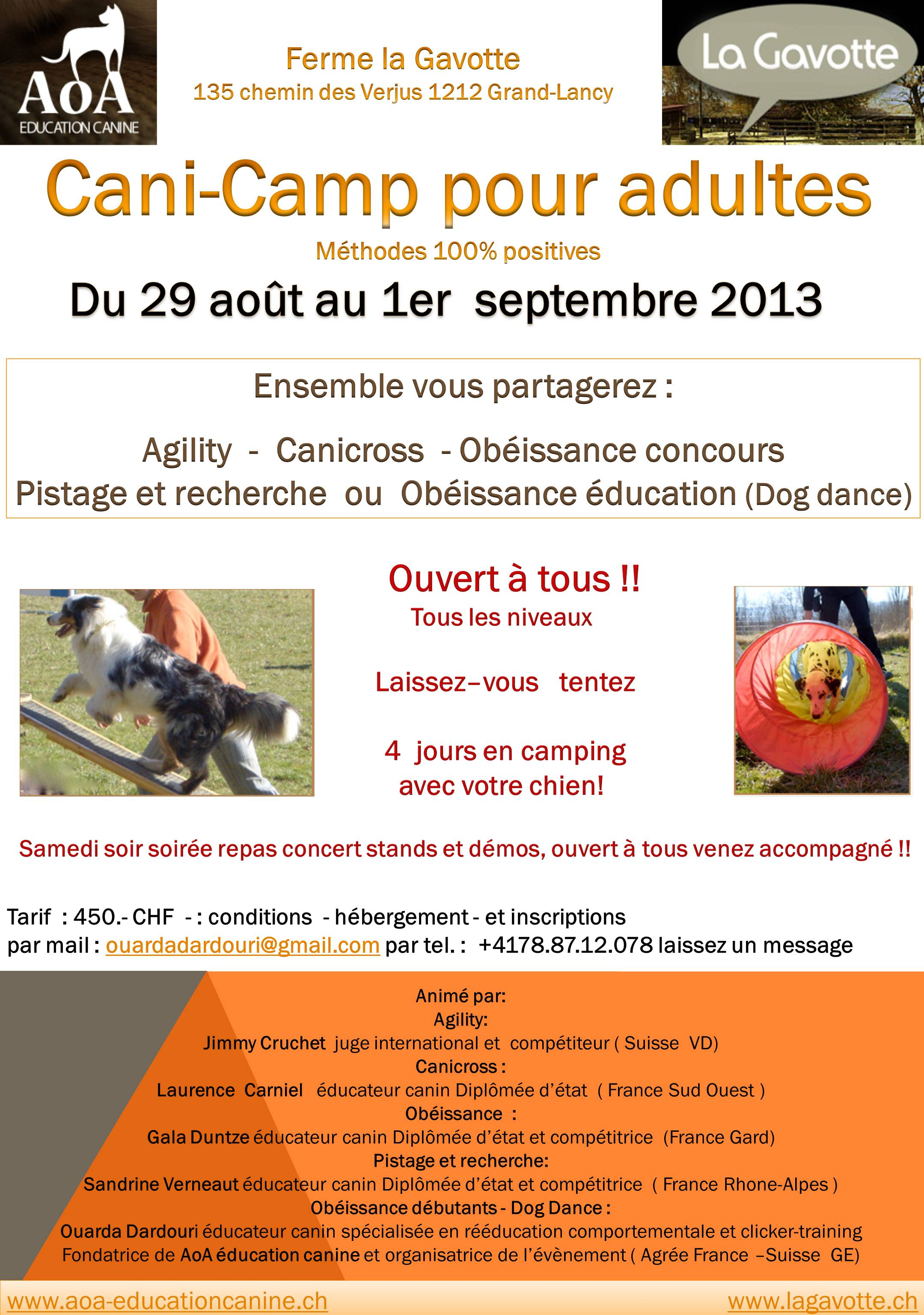 Camp de sport pour adultes
