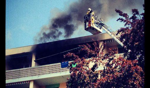 Un appartement dévasté par les flammes à Champel