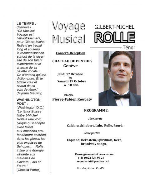 Gilbert Michel Rolle-Musical Voyage