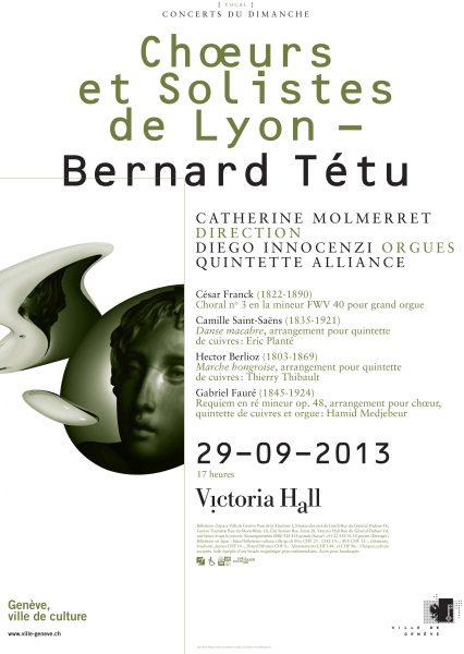 Choeur et Solistes de Lyon – Bernard Tétu au Victoria Hall