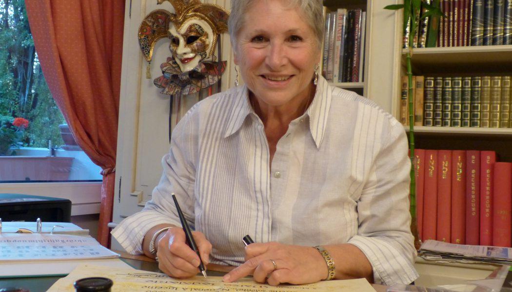 Portrait d'une traceuse de belles lettres