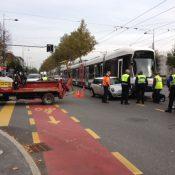 Accident à la route de Chancy: une mini percutée par le tram