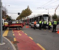 Accident à la route de Chancy: une mini percutée par le tram