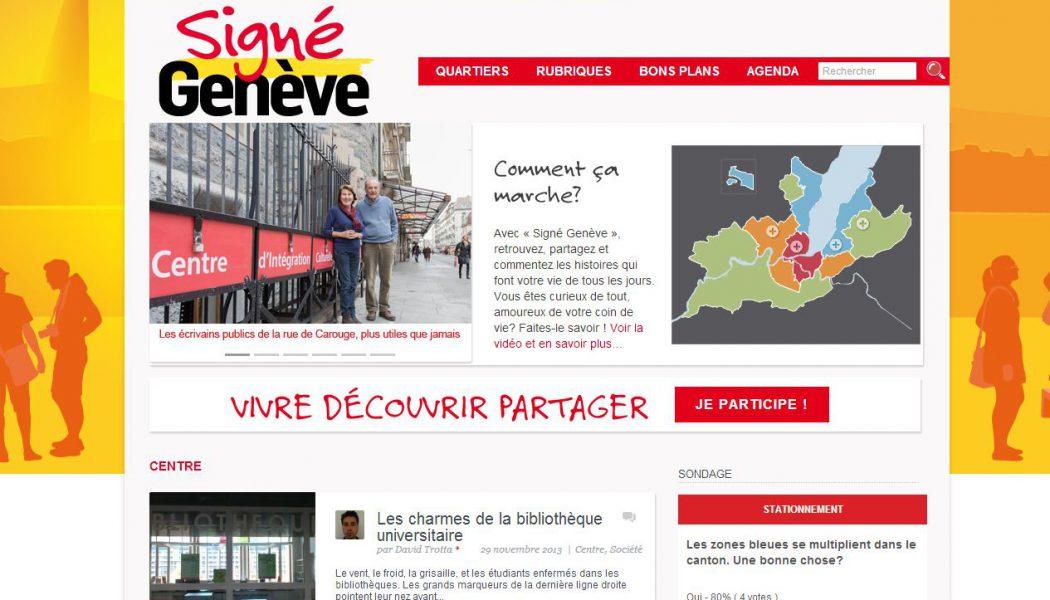 Trois nouvelles fonctionnalités pour le site Signegeneve.ch