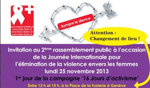 Rassemblement public contre la violence envers les femmes