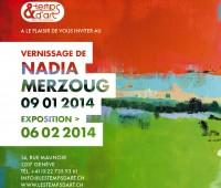 Nadia Merzoug expose à la galerie l'& Temps d'art/Eaux-Vives