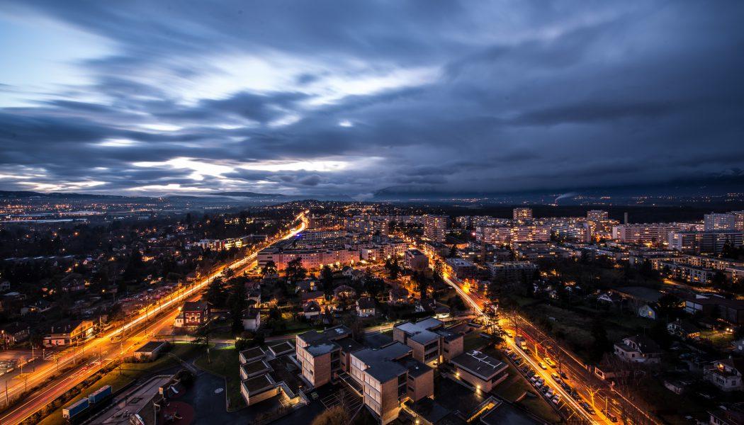 Genève, photographiée de nuit