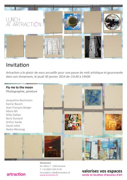 Invitation à un lunch artistique – Showroom Artraction