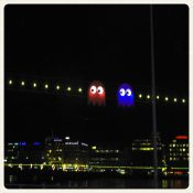 Pacman sur la rade de Genève
