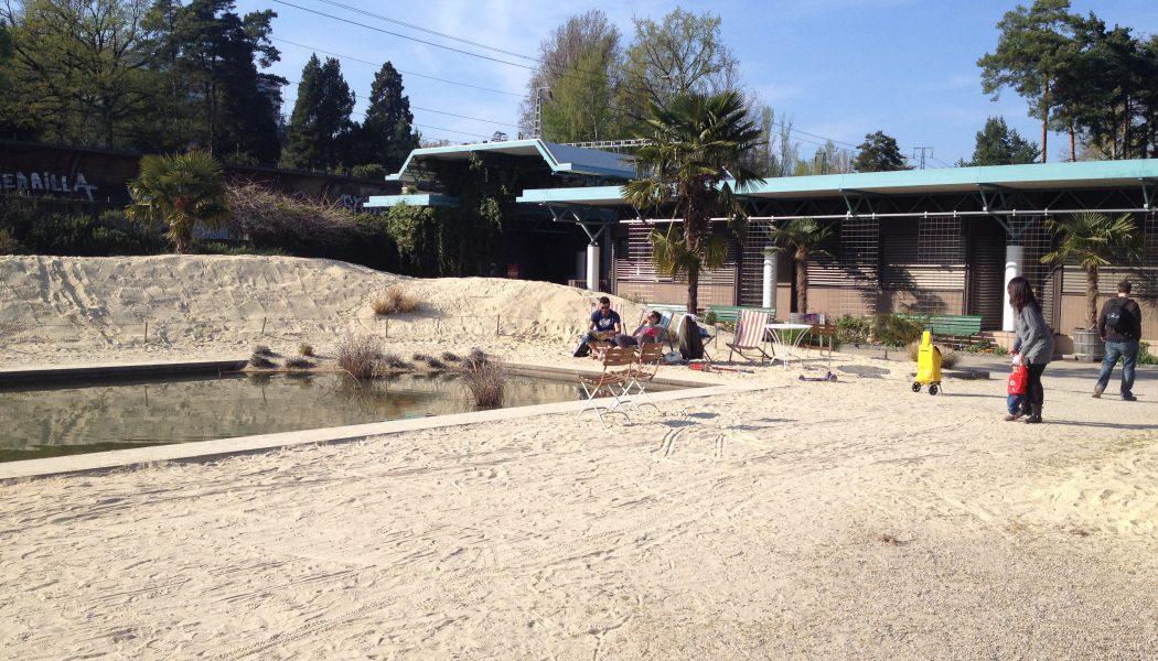 Une plage improvisée au jardin botanique