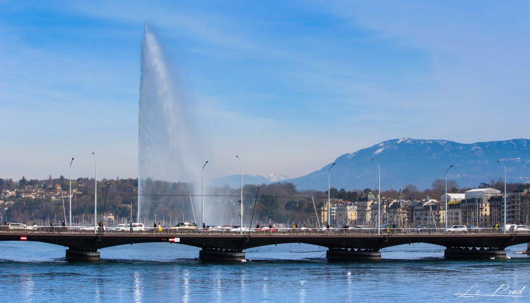 Jet d'eau de Genève ( Lac Léman )