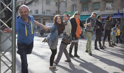 Danse urbaine impromptue