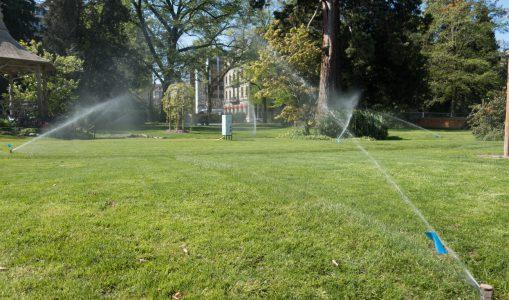 Le système d'arrosage du Jardin Anglais fait peau neuve