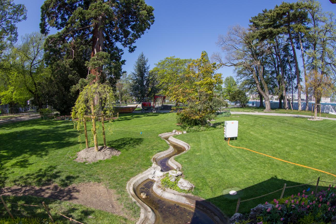 Le syst me d 39 arrosage du jardin anglais fait peau neuve for Le jardin anglais geneve