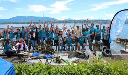 Nettoyage du lac 2014 à Port Saladin