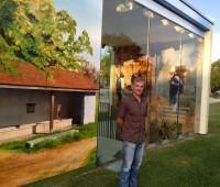 Un artiste basque raconte Meinier en peinture