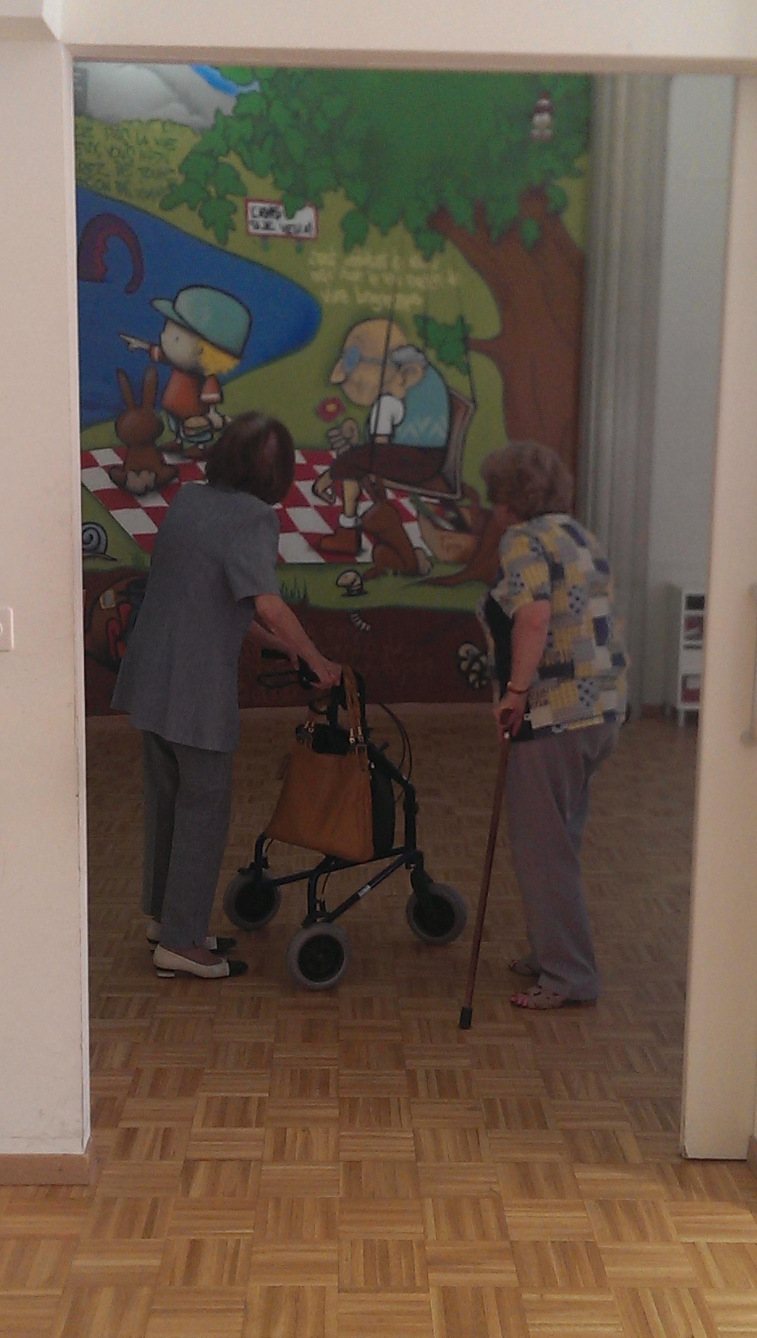 Foyer Handicap Plan Les Ouates : Graffiti intergénérationnel au foyer soubeyran signé genève