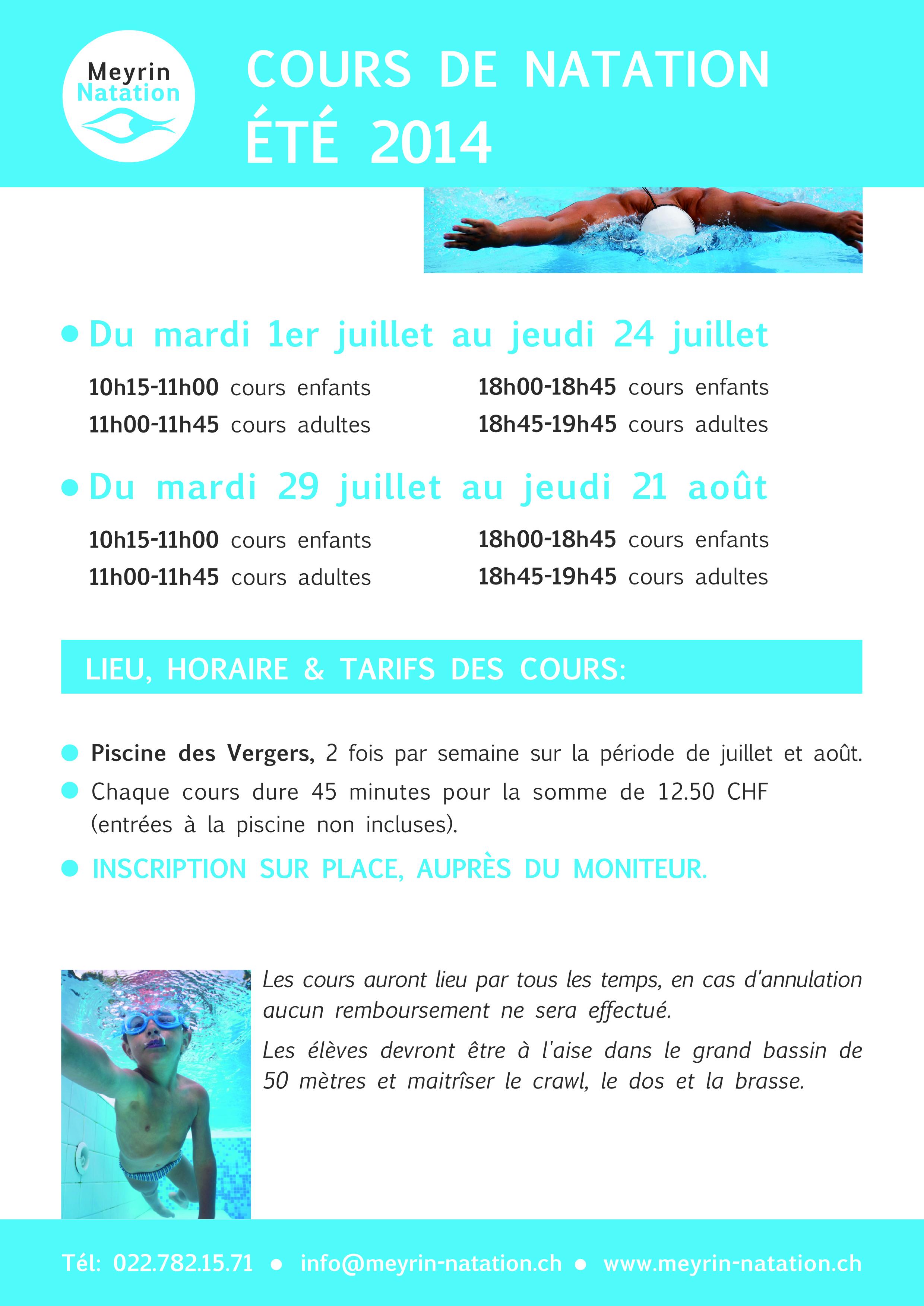 Cours de natation sign gen ve for Piscine cours de natation