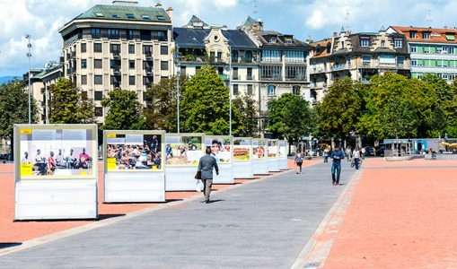 Exposition de photographies, Genève Ville Solidaire ©C.Martignoli