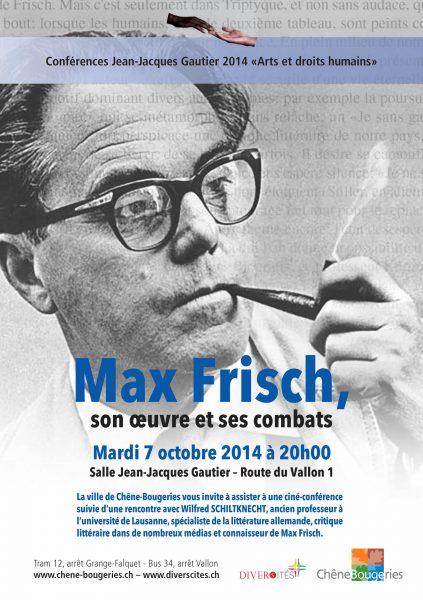 Ciné-Conférence Max Frisch