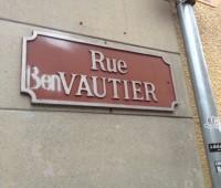 Canaille, la plaque de la rue Vautier, à Carouge