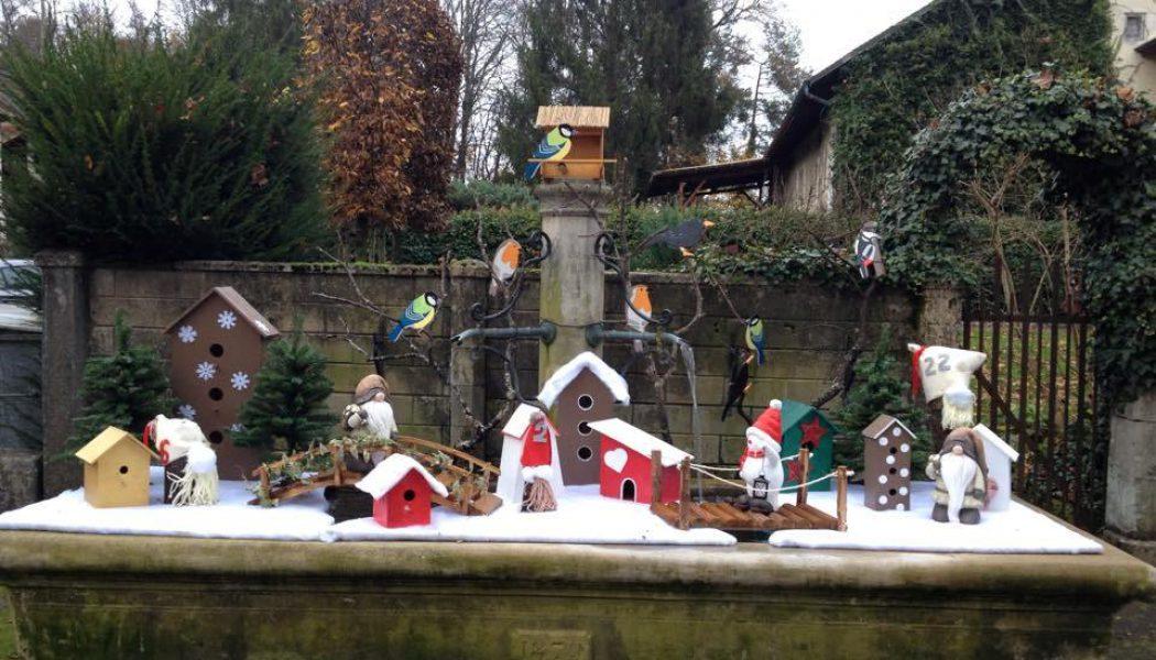 Décorations de Noël à Céligny vandalisées