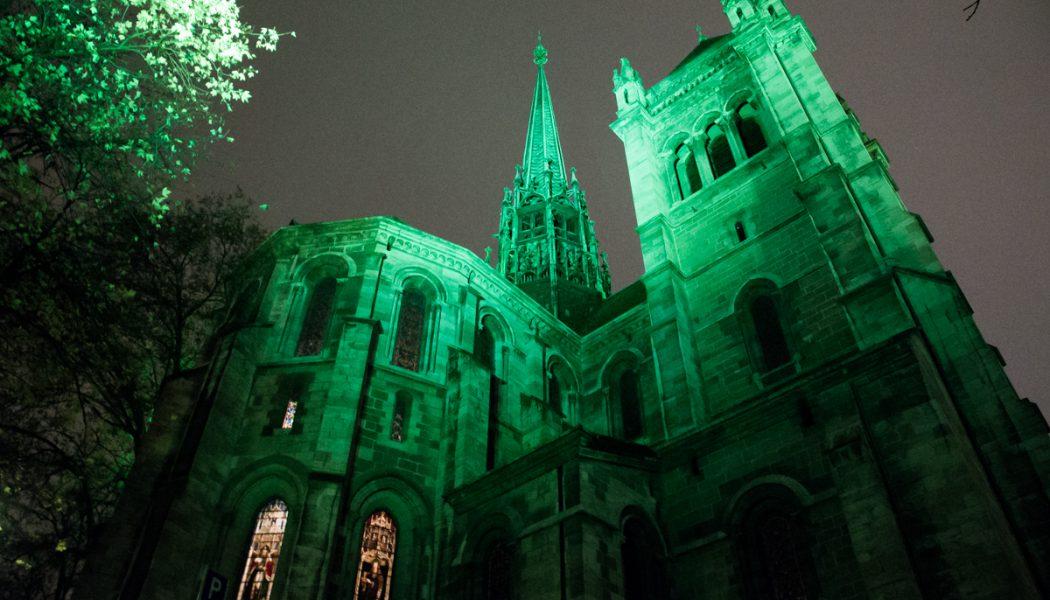 La cathédrale Saint-Pierre s'illumine de vert pour une bonne cause