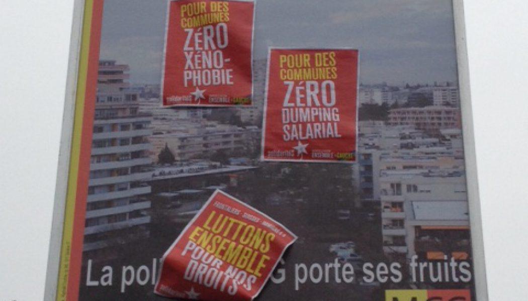 A Onex, le MCG porte plainte contre des déprédateurs d'affiches électorales