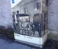 A Corsier, des armoires électriques décorées