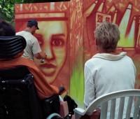 37. Graffitis, rap et hip-hop dans le parc de l'hôpital