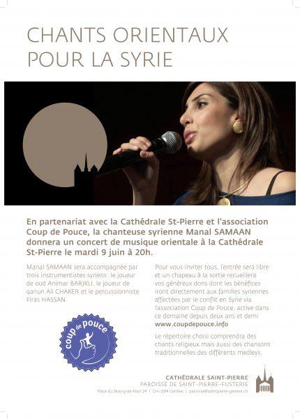 Concert de musique syrienne le 9 juin à la cathédrale Saint-Pierre