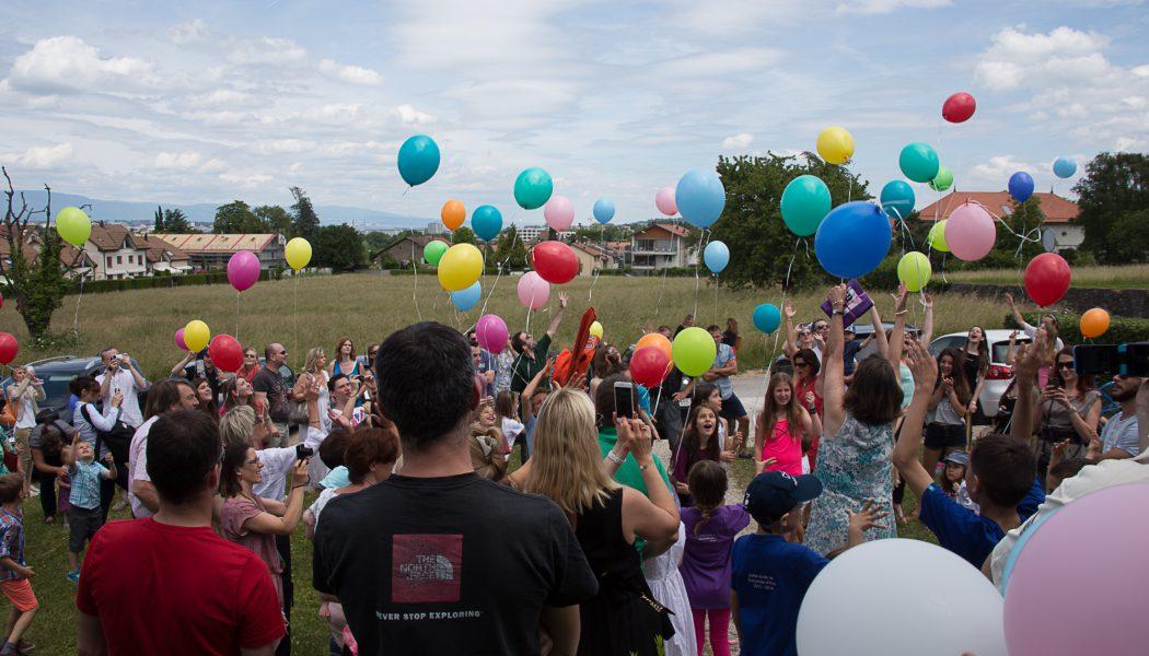 Belle fête d'adieu pour l'école du village de Saconnex d'Arve