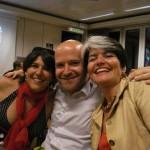 Jeannine deHaller Kellerhals a droite avec Nicolas Walder et Stéphanie Lammar lors de la dernière légisature carougeoise. © Maryelle Budry