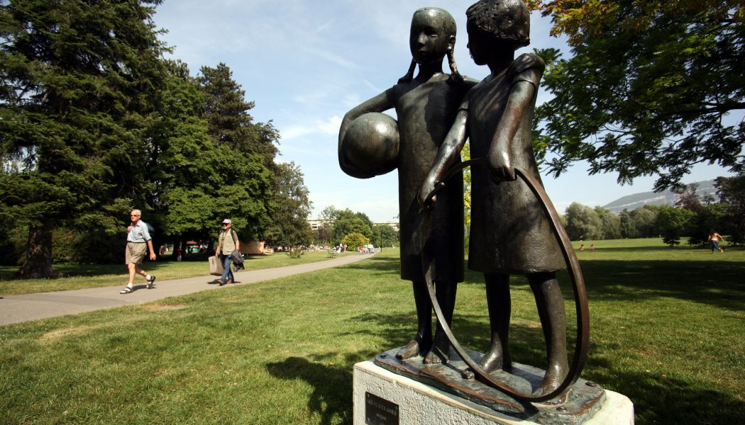 Le parc Alfred BERTRAND.Photo Lucien FORTUNATI