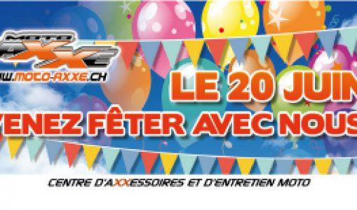1er anniversaire de Moto Axxe Genève = journée festive
