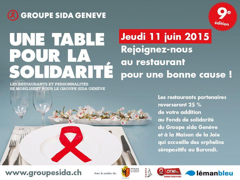 Participez à Une table pour la solidarité – jeudi 11 juin –