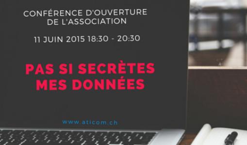 Conférence d'ouverture de l'association aticom